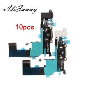 Image 1 - كابل شحن مرن 10 قطعة من AliSunny لشاحن iPhone SE 5SE منفذ USB قطع غيار شريط ميكروفون