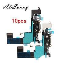 AliSunny 10pcs טעינת Flex כבל עבור iPhone SE 5SE מטען USB יציאת Micphone רצועת כלים