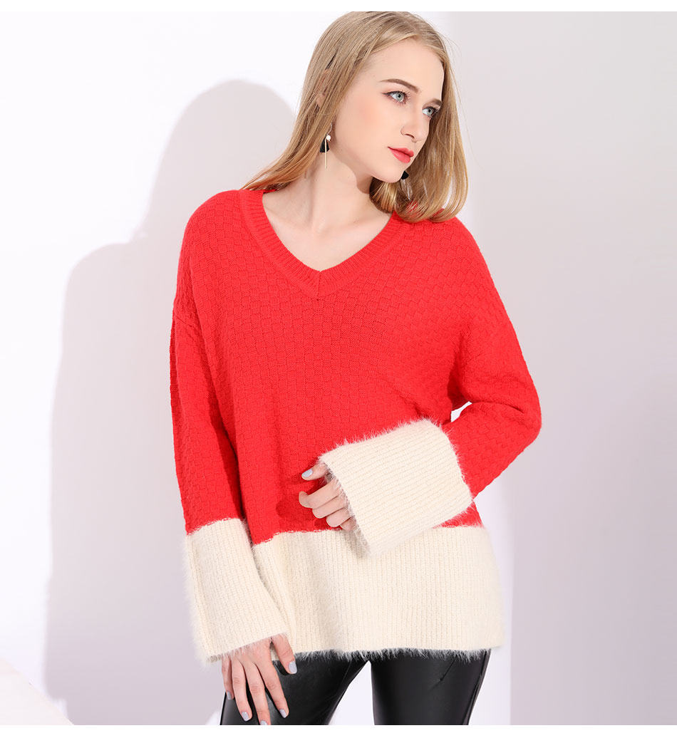 65056a053 Women Sweaters And Pullovers Warm Cashmere Oversized Sweater Women ...