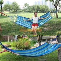 Unihome Canvas Double Spreader Bar Hammock Outdoor Camping Swing Hanging Bed Blue Free Shipping