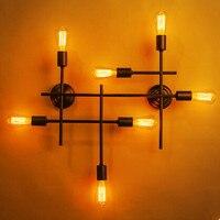 Ретро iwhd Лофт светодиодный настенный светильник Промышленный Винтаж фоновая фотография в стиле ретро свет RH приспособления для домашнего