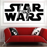 G086 STAR WARS TIE FIGHTER Vinyl Wall Art Sticker Decal Bedroom Boy Room Ideas Bedroom Wall