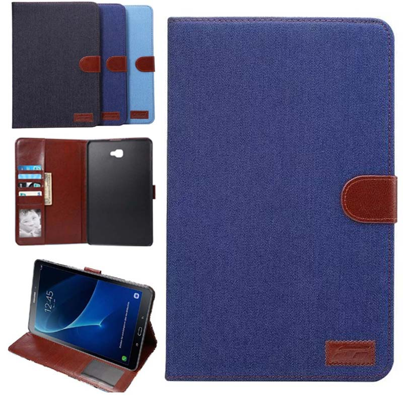 For Samsung Galaxy Tab A 10.1 T585 T580 T580N case Business Smart Stand PU Leather Tablet Cover Case for samsung Tab a6 10.1