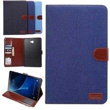 Para Samsung Galaxy Tab 10.1 T585 T580 T580N caso Smart Business a6 PU del soporte de la Tableta de Cuero Caso de la Cubierta para samsung Tab 10.1″