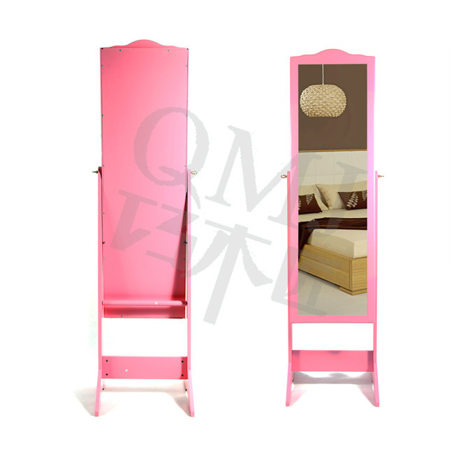 NEW Luxury Large furniture hot pink mirror jewelry cabinet with ...