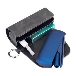 Image 5 - موضة الوجه غطاء كتاب مزدوج ل 3.0 حقيبة صغيرة وجراب حامل غطاء محفظة جلدية الحال بالنسبة iqos 3
