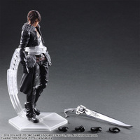 Play Arts Kai Final Fantasy VIII Squall Leonhart Variant Figure Varable Squall Gunblade PVC Action Figures Toy Brinquedos