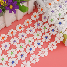 Embroidered Flower Pattern Lace Ribbon Fabric DIY Handmade Tablecloth Material For Sofa Bed Curtain Texile Decorate
