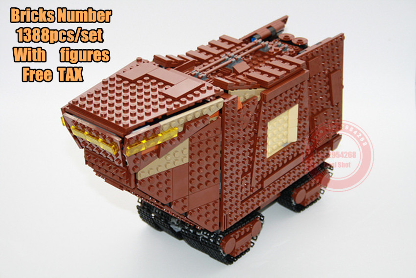 New Starfighter The Sandcrawler fit legoings star wars fighter figures tank Building Blocks Bricks kid diy toys 75220 Gifts xmas new the rogue one usc naboo style fighter fit legoings star wars fighter figures fit 10026 building blocks bricks toys gift kid
