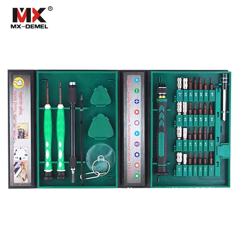 цена на MX-DEMEL High Quality 38 in 1 Laptop Mobile Phone Repair Tools Kit Precise Screwdriver Set Repair For Cell Phones Hand Tool Sets