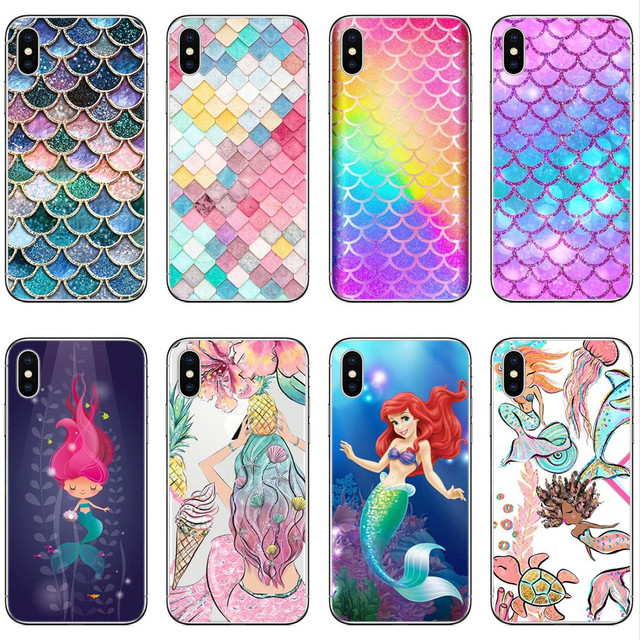 newest ab0c5 a5a76 US $2.06 39% OFF|Cute Princess Ariel Little Mermaid Clear Soft silicone TPU  Phone Case Cover For iphone X 5 5S SE 6 6SPlus 7 7Plus 8 8Plus-in Phone ...