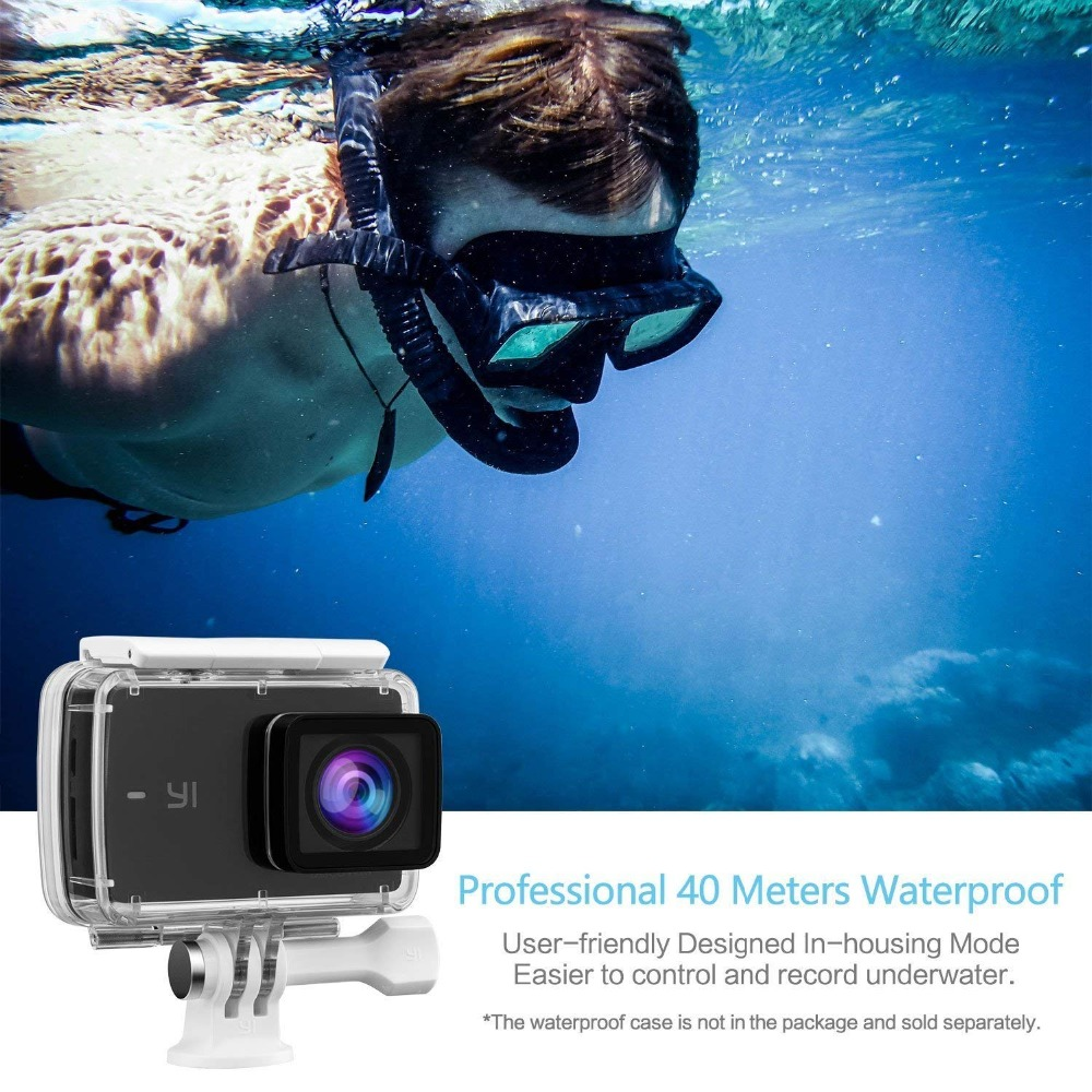 Image 4 - 【Double 11 】YI Discovery Action Camera 4K 20fps Sports Cam 8MP 16MP 2.0 Touchscreen Built in Wi Fi 150 Degree Ultra Wide Angle