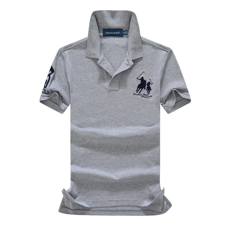 abundance flloh summer 100% mesh import pique cotton big horse men 3 embroidery logo   polo   shirts fashion brand   polo   shirts