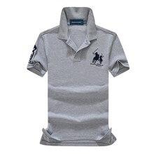 abundance flloh summer 100% mesh import pique cotton big horse men 3 embroidery logo polo shirts fashion brand polo shirts single pique victoria single pique