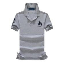 abundance flloh summer 100% mesh import pique cotton big horse men 3 embroidery logo polo shirts fashion brand polo shirts