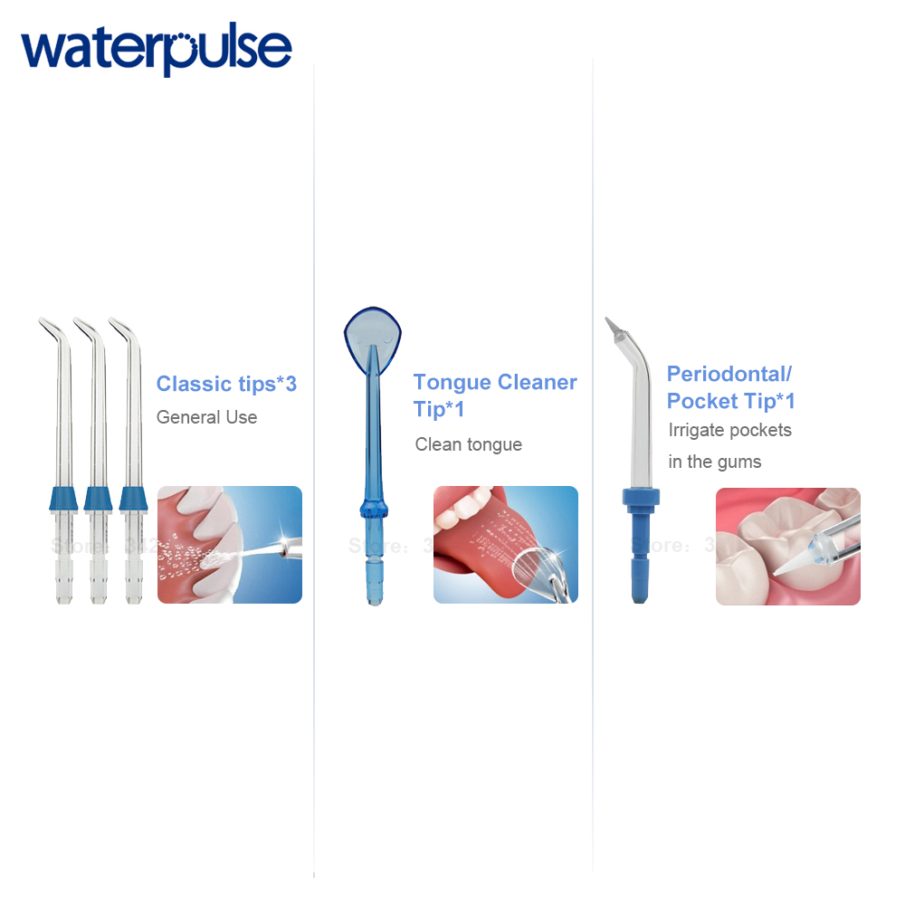 Image 5 - Waterpulse V700 Portable Water Flosser Touch Start Waterproof Oral Orrigator LED Touch 5 Tips Electric Household Dental Floss-in Oral Irrigators from Home Appliances