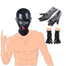Latex Leather Mask Hood Headgear Head Slave Cosplay Fetish Restraints BDSM Bonda