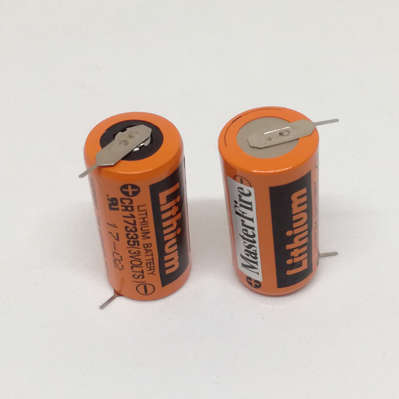 2PCS/LOT MasterFire New Sanyo PLC Lithium Battery CR17335 3V CR17335(3VOLTS) Batteries With Tabs ( CR17335)