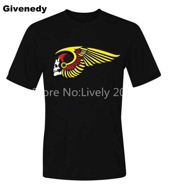 HAMC Hells Angels Skull Mens & Womens Casual Camiseta de Manga Corta O-cuello de la Camiseta