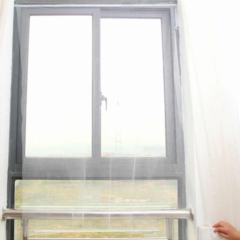 130cmx150cm Fly Mosquito Window Net Mesh Screen Room Cortinas Mosquito Curtains Net Curtain Protector Fly Screen Inset