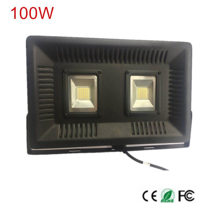 DHL Free 100W LED Flood Light Floodlight Ultrathin design 25mm thickness LED Reflector Spot Light Warm/Cold White AC220V 230V