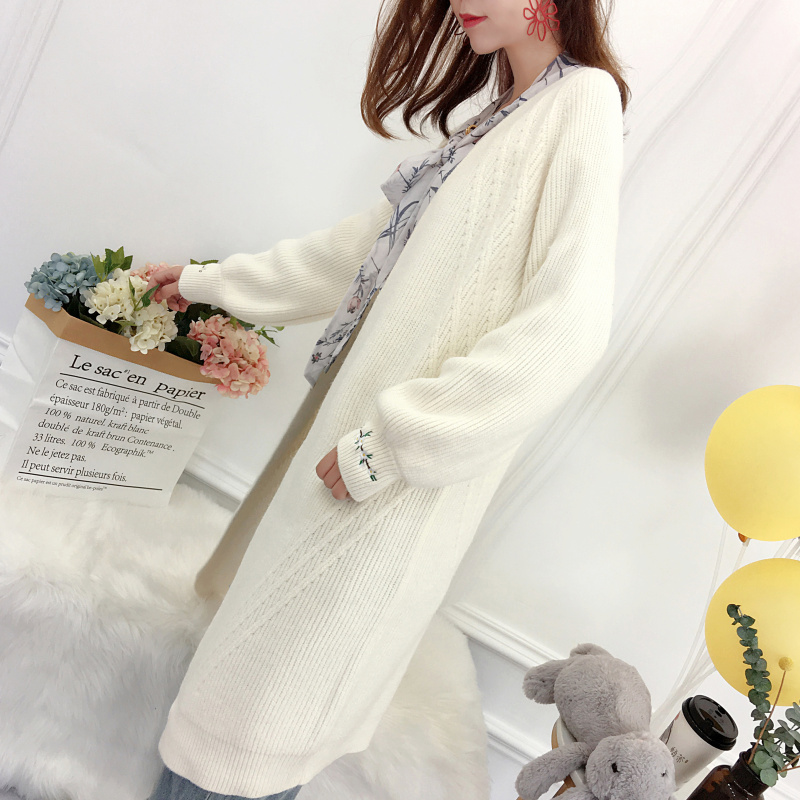 New Fashion Spring 2018 Women Sweaters Cardigans Casual Warm Long Design Female Knitted Sweater Coat Cardigan Sweater Lady