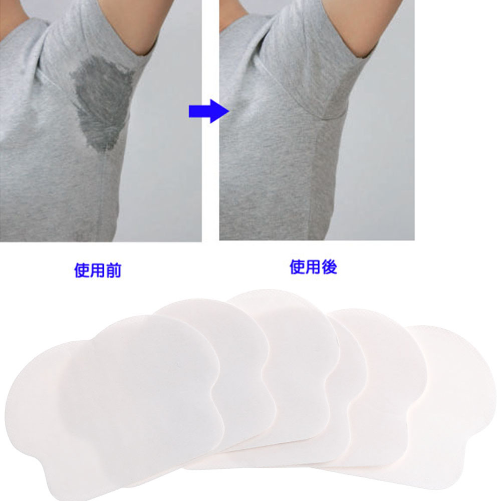 12 Pcs/pack Hot Sale Women Men Unisex Summer Disposable Underarm Armpit Sweat Pads Absorbing Anti Perspiration Deodorant