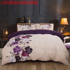Image 1 - LOVINSUNSHINE מלך גודל סט מצעים Duver כיסוי מלכת גודל פרח שמיכה AW01 #