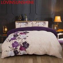 Lovinsun طقم فرش أسرة كينج سايز غطاء Duver الملكة حجم زهرة مجاميع راحة الفراش AW01 #