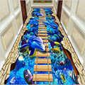 AOVOLL 3D Druck Nicht-Slip Korridor Gang Teppich Hotel Mall Eingang Halle Kanal Matte Küche Fußmatten Für Die wohnzimmer