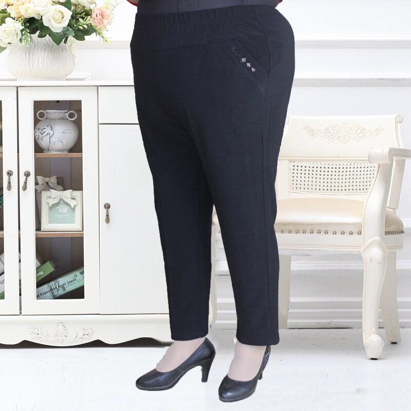 Negro Madre Oscuro Pluse Cintura Grande Pantalones P8hzk Nuevo Bolsillo 2018 Tamaño gris Elástico 7W8r7vAB