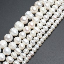 Medium quality Freshwater White Pearl Round Beads for jewelry Bracelet ,Necklace, making 15 inches/strand free shipping 5-11mm цена и фото