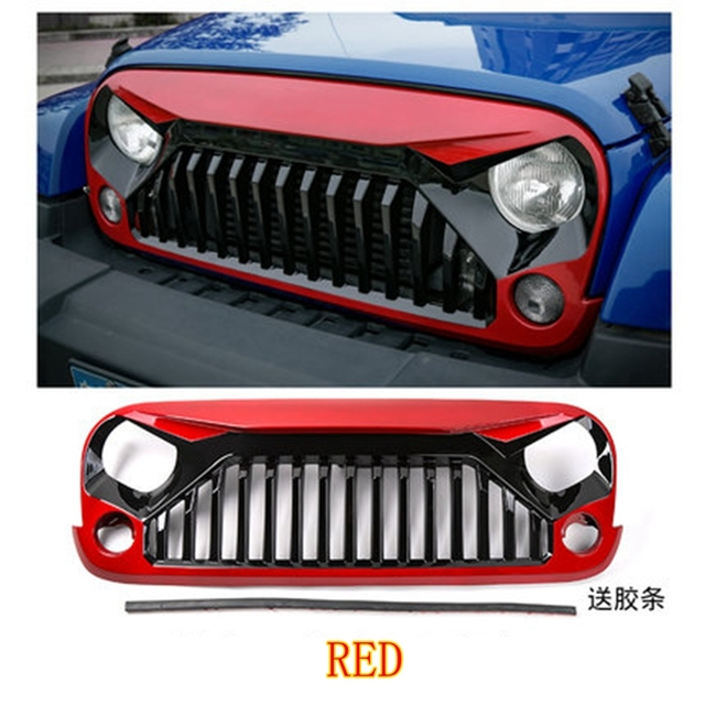 Montfo For Jeep Wrangler Jk 2007 2015 Abs Plastic Paint Red White