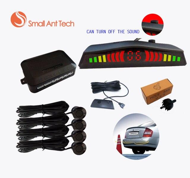 Old Driver Car LED Parking Sensor Switch Off Sound 4 Sensors for all cars Reverse Assistance Backup Radar Monitor System