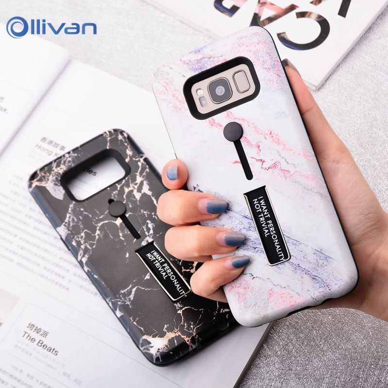 For <font><b>Samsung</b></font> Galaxy S10 Marble <font><b>Phone</b></font> <font><b>Case</b></font> For <font><b>Samsung</b></font> S10E S9 S8 Plus Note 9 8 A50 A70 Marble Soft Stand Holder Silicon Cover image
