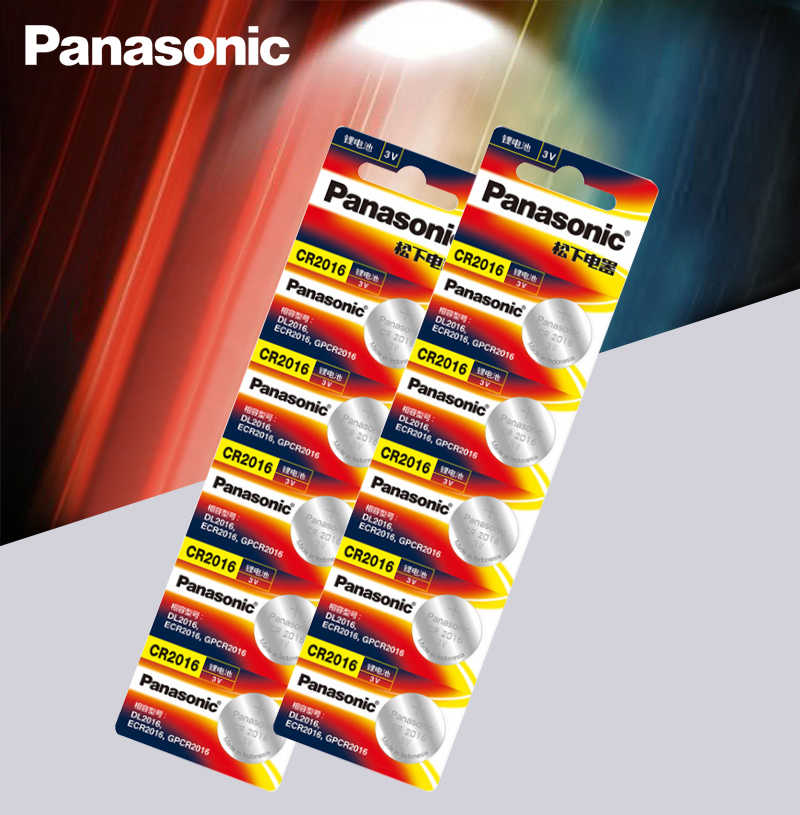 10PCS/LOT Panasonic Top Quality Lithium Battery 3V cr2016 Button Battery Watch Coin Batteries cr 2016 DL2016 ECR2016