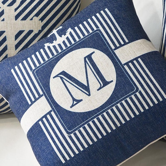 Marine Style Print Cushion Cover 5