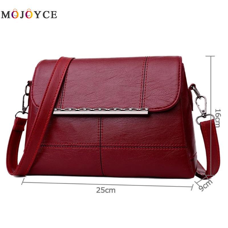 Retro PU Leather Women Shoulder Bags Luxury Brand Flap Messenger Bag Elegant Office Ladies Handbag Bolsa Feminina 6