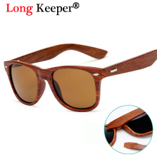 Long Keeper Real Wood Sunglasses Men Women Cat Eye Original Sun Glasses Oculos Gafas de sol UV400 Goggles Wooden Eyewears KP1530