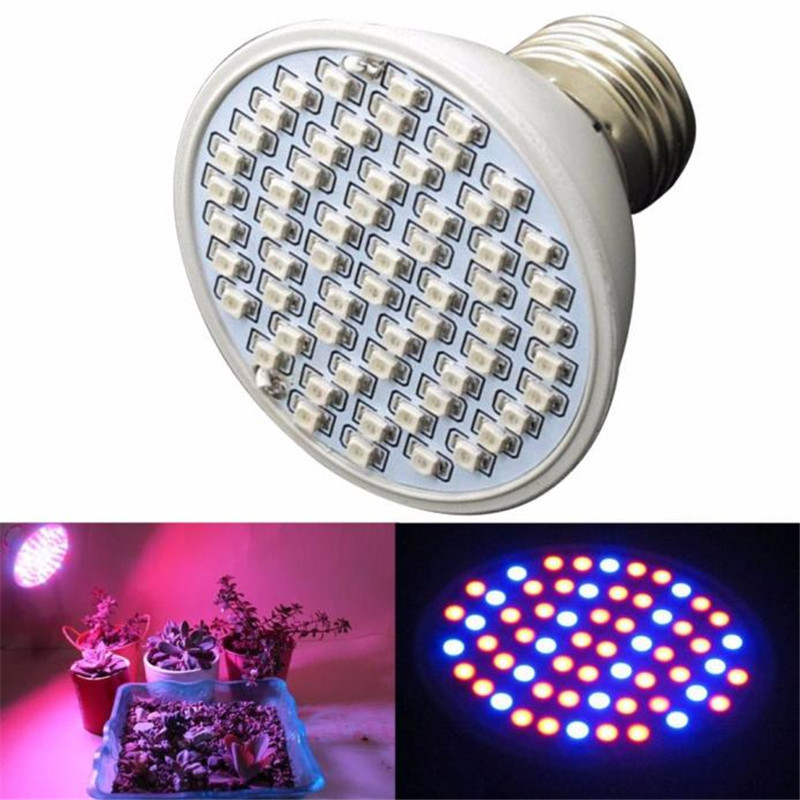 E27 Plant Grow Light Epistar LED Chips 6W 60LED AC85-265V Hydroponic Plant Grow Light Panel Full Spectrum Indoor Growing Lamp ...