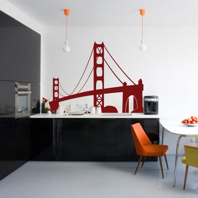 Travel Landmarks Usa San Francisco Golden Gate Bridge Wall Decal