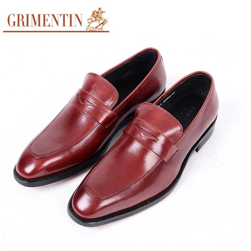GRIMENTIN Marke UK vintage herren kleid schuhe aus echtem