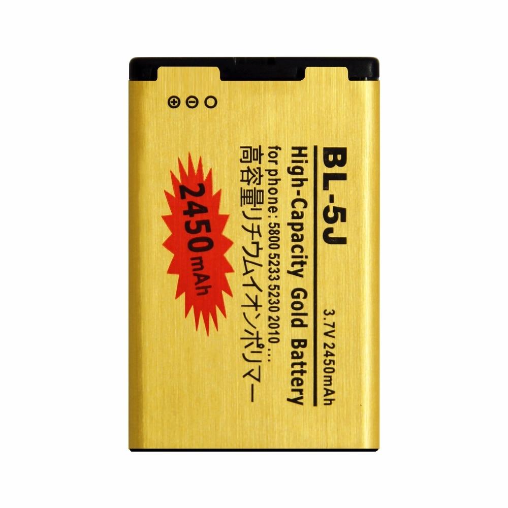 Golden bateria BL-5J BL5J Mobile Phone Battery for NOKIA 5230c/5800xm/5800ixm/5802xm/5900xm/ X9/n900/x6/5233/5235/X6m battery