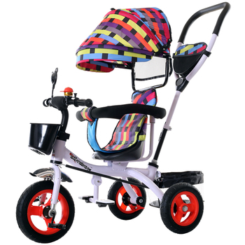 Children's Tricycle Space Wheel Baby Bicycle Large Push Trolley 3 Wheel  Stroller for Kids  Toddler Bikes Travel Umbrella Cart