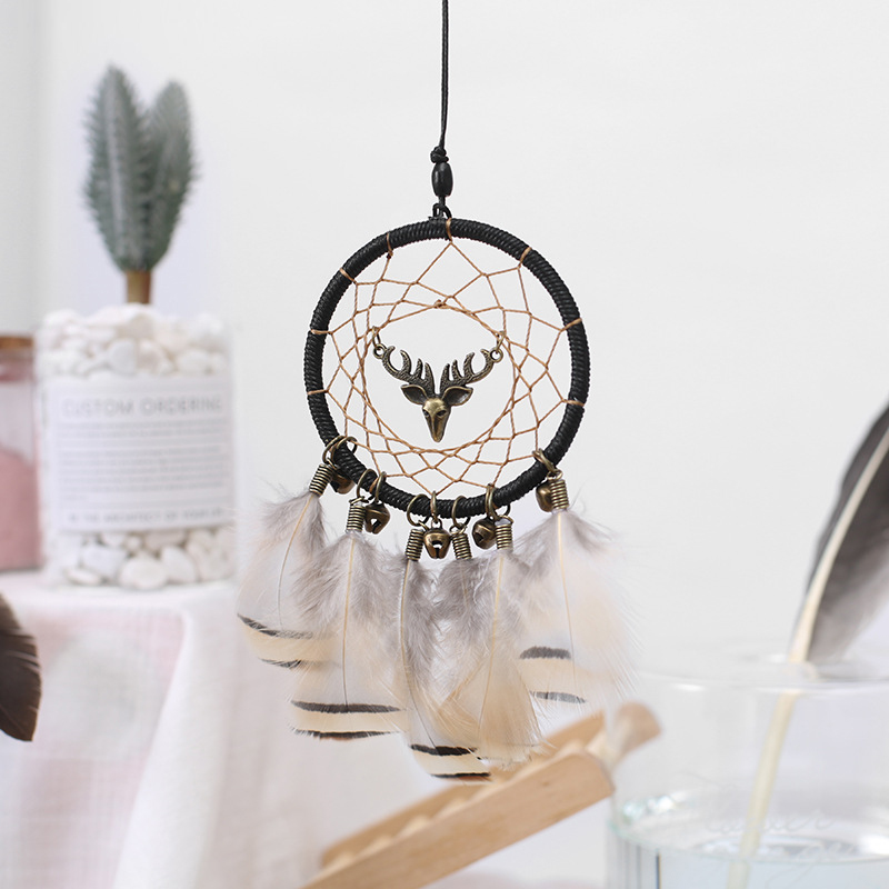 Image 2 - Handmade Dream Catcher Ethnic Feather DreamCatcher Home Wall car wedding Art Hangings Decorations Gift Pendant 2019-in Ornaments from Automobiles & Motorcycles