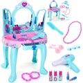 Nuevos Niños de la Llegada caja de maquillaje Caja de Cosméticos Princesa niñas simulación aparador de vestir juegos de los niños Para La Muchacha del Mejor regalo