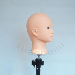 Image 4 - Bald Head Training Head for practice makeup  women Mannequin Head for Wig Hat Display With free stand Hair finishing Wig Stand