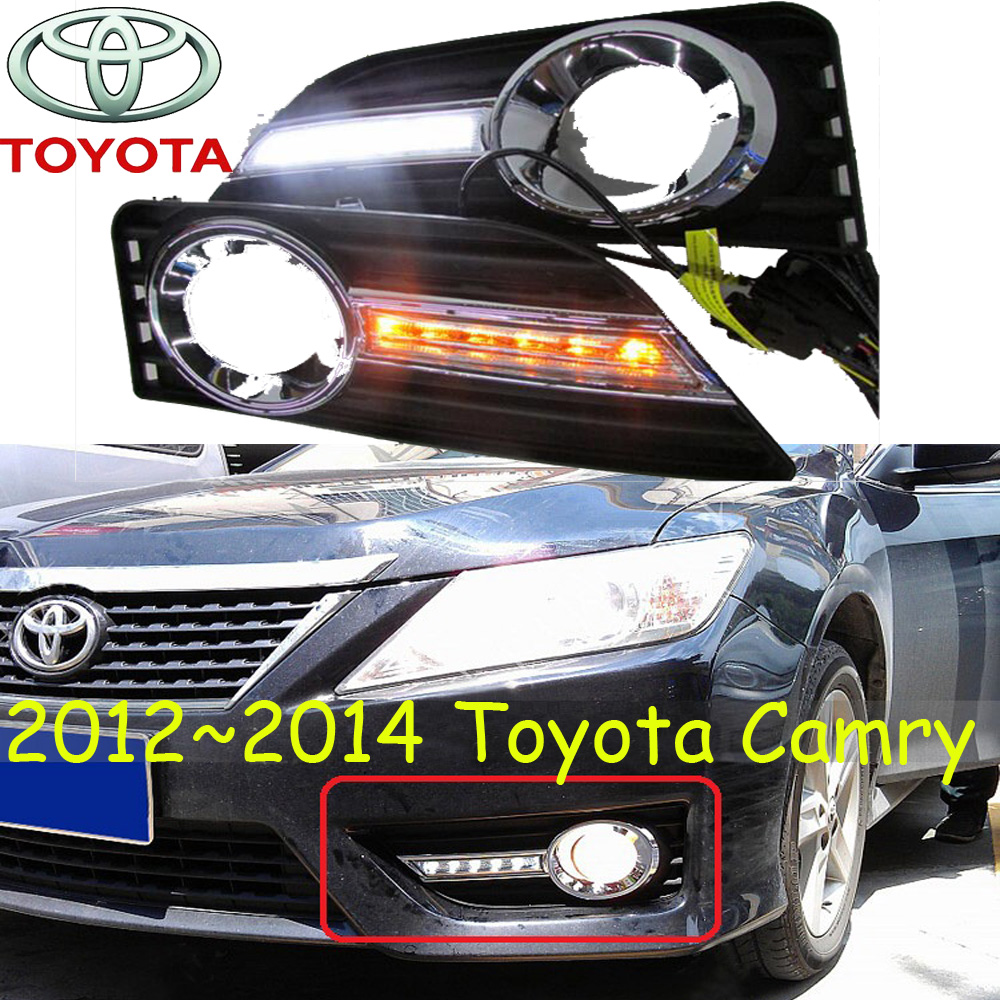 car-styling,2012~2014/2015~2017 Camry daytime light,led,2pcs/set,Camry fog light;car-covers,chrome, Camry special car trunk mats for toyota all models corolla camry rav4 auris prius yalis avensis 2014 accessories car styling auto