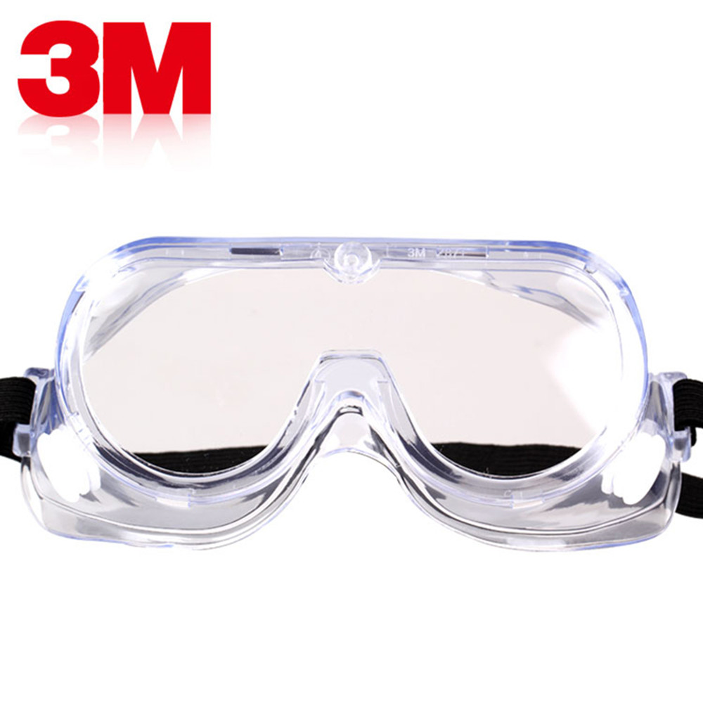 3M 1621AF Anti-Impact And Anti Chemical Splash Goggle Glasses Safety Goggles Economy Clear Anti-Fog Lens Eye Protection Labor