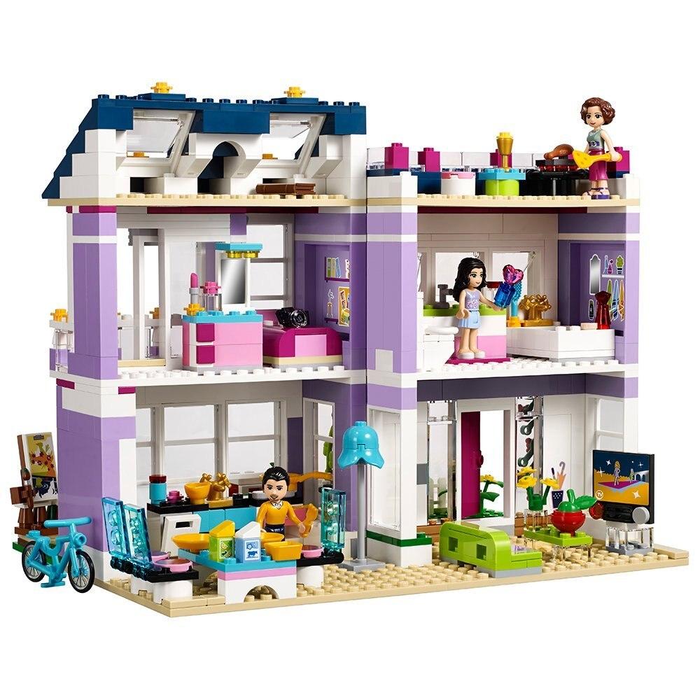 Legoings 友人エマのハウス 41095 ビルディング · ブロックと互換性エマミアフィギュア知育玩具子供ガール  グループ上の おもちゃ & ホビー からの ブロック の中 1